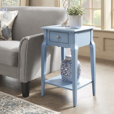 Daltrey 1 Drawer End Table Color: Heritage Blue