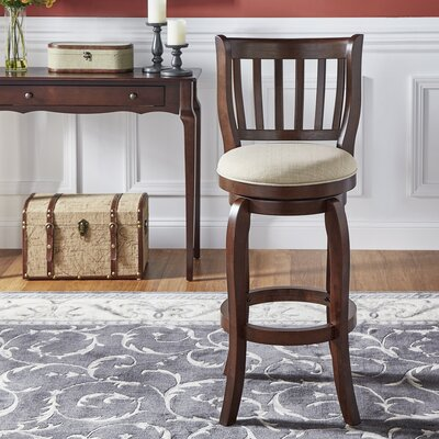 Morgan 29 Swivel Bar Stool Upholstery: Beige