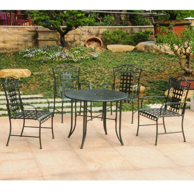 Snowberry 5 Piece Outdoor Dining Set Color: Vertigris