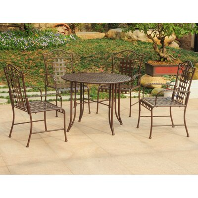 Snowberry 5 Piece Outdoor Dining Set Color: Matte Brown