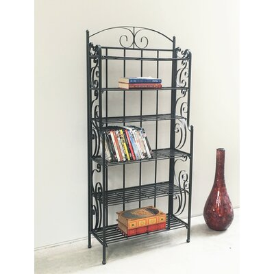 Snowberry Six Shelf Iron CD/DVD Rack Size: Large