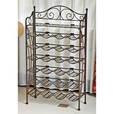 Snowberry 24 Bottle Hanging Wine Rack Finish: Bronze