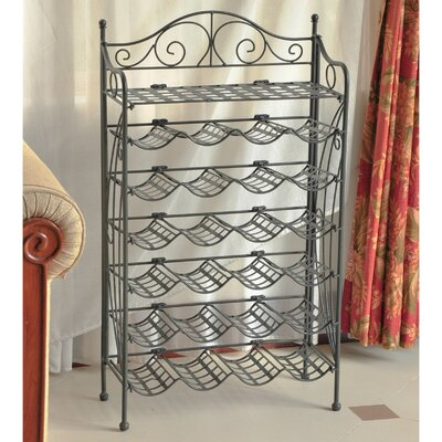 Snowberry 24 Bottle Hanging Wine Rack Finish: Pewter