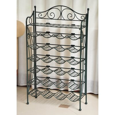 Snowberry 24 Bottle Hanging Wine Rack Finish: Verti Gris