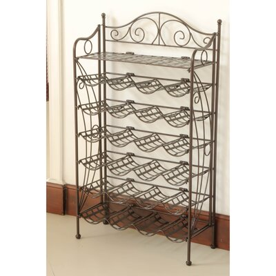 Snowberry 24 Bottle Hanging Wine Rack Finish: Matte Brown