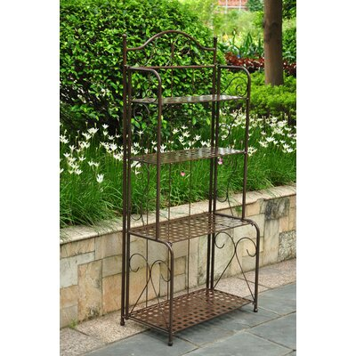 Snowberry 4 Tier Indoor/Outdoor Bakers Rack Finish: Bronze