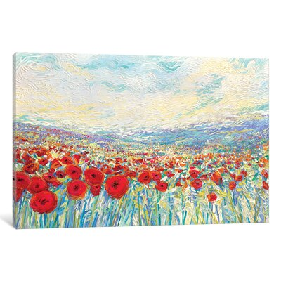 Poppies of Oz Painting Print on Wrapped Canvas