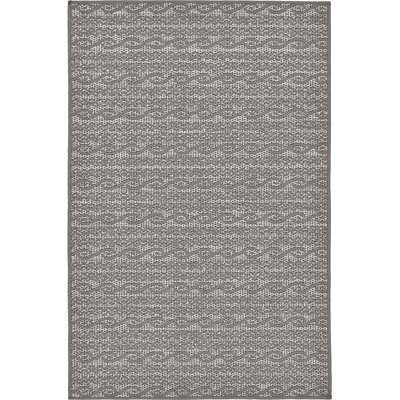 Vincent Gray Outdoor Area Rug Rug Size: 3'3