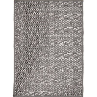 Vincent Gray Outdoor Area Rug Rug Size: 22 x 3