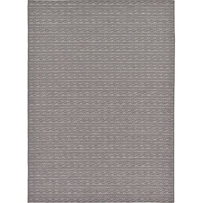 Vincent Gray Outdoor Area Rug Rug Size: 7' x 10'