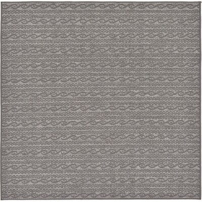 Vincent Gray Outdoor Area Rug Rug Size: Square 6'