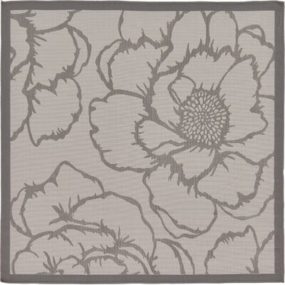 Viola Gray Outdoor Area Rug Rug Size: Square 6'