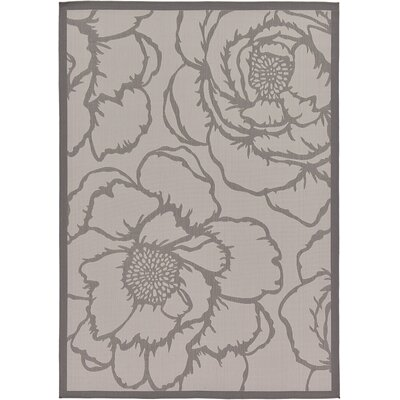 Viola Gray Outdoor Area Rug Rug Size: 7' x 10'