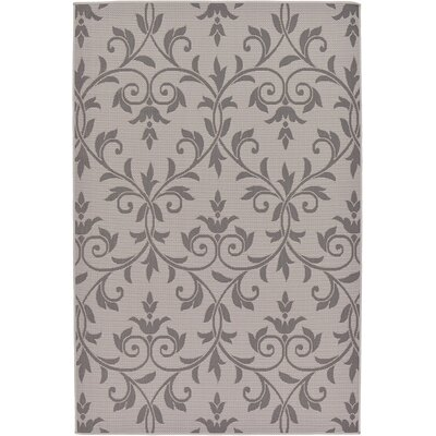 Walker Gray Outdoor Area Rug Rug Size: 5'3