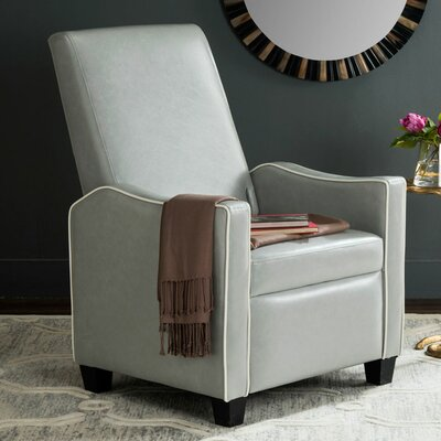 Kittinger Manual Recliner Color: Gray / White