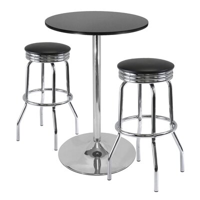 Three Posts Warrensburg 3 Piece Pub Table Set