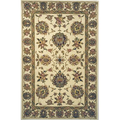 Raubsville Hand-Tufted Ivory/Green Area Rug Rug Size: Rectangle 5 x 8