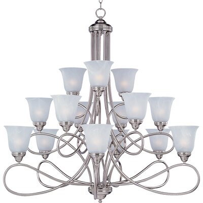 Norwood 15-Light Shaded Chandelier Finish: Satin Nickel with Marble Shade