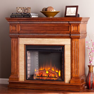 Earlville Stone Look Electric Fireplace