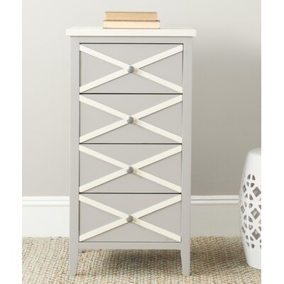 Chereen 4 Drawer End Table Finish: Grey