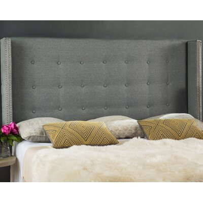 Charlotta Traditional Queen Upholstered Wingback Headboard