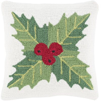 Christmas Mistletoe Throw Pillow Fill Type: Down, Color: White