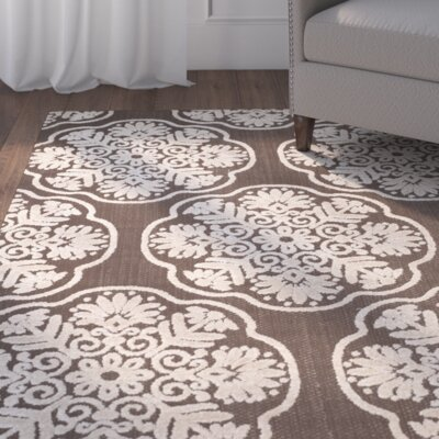 Brown/Beige Indoor/Outdoor Area Rug Rug Size: 53 x 77