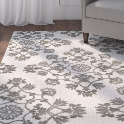 Cream/Gray Indoor/Outdoor Area Rug Rug Size: Rectangle 53 x 77