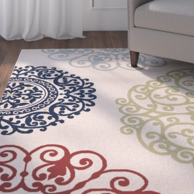 Perrysburg Cream/Sweet Pea Indoor/Outdoor Area Rug