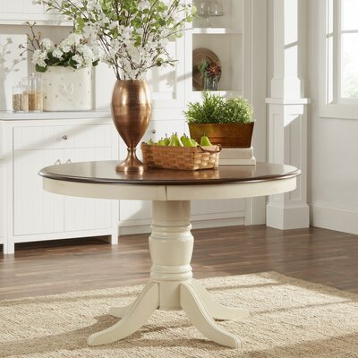 Westlund Dining Table Base Finish: Antique White/Cherry