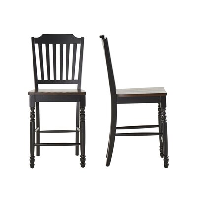 Westlund Counter Height Side Chair Finish: Black/Cherry