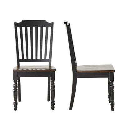 Westlund Solid Wood Dining Chair Finish: Black/Cherry