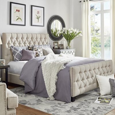 Westminster Upholstered Platform Bed Size: Queen