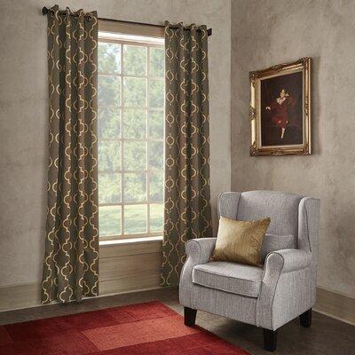 Ana Quatrefoil Blackout Grommet Single Curtain Panel