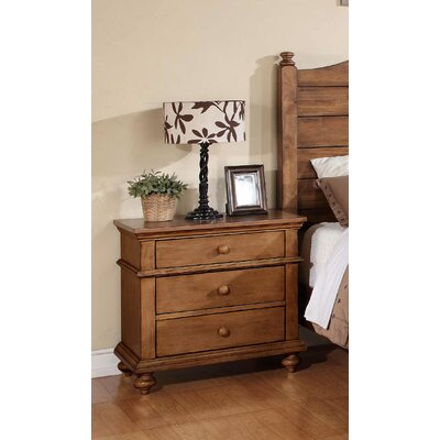 Courtdale 3 Drawer Nightstand Color: Acacia