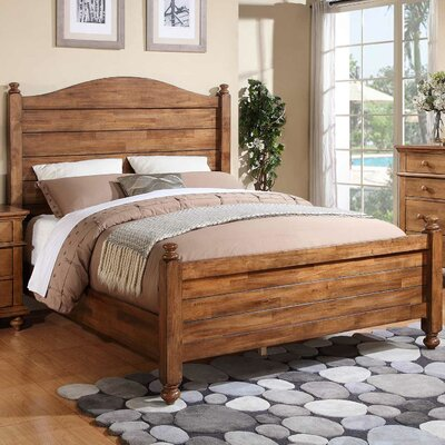 Courtdale Panel Bed Size: California King, Color: Acacia