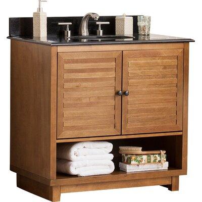 Worthen 34.25 Single Bathroom Vanity Set with Granite Top