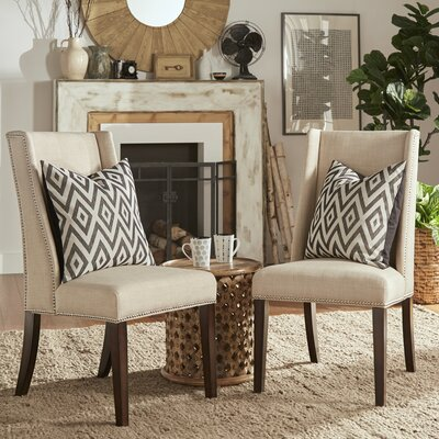 Chicago Parsons Chair Upholstery: Beige Linen