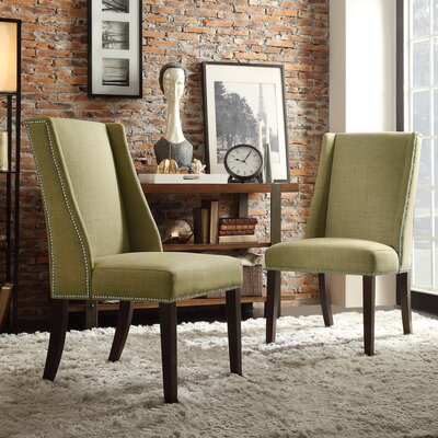 Chicago Wingback Parsons Chair Upholstery: Chartreuse