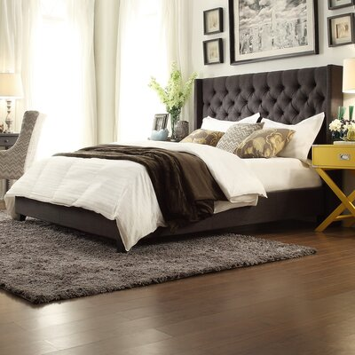 Crawley Upholstered Platform Bed Upholstery: Dark Gray, Size: Full