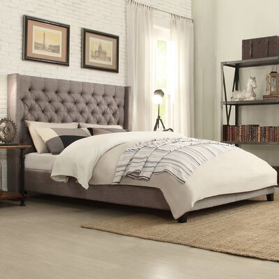 Crawley Upholstered Platform Bed Upholstery: Gray, Size: Full