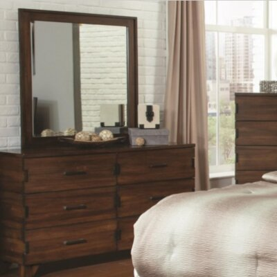 Yorkshire 6 Drawer Double Dresser with Mirror