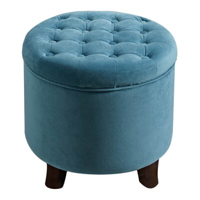 Wilfred Storage Ottoman Upholstery: Teal