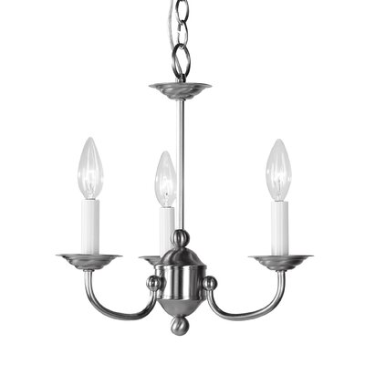 Williams 3 Light Candle-Style Chandelier
