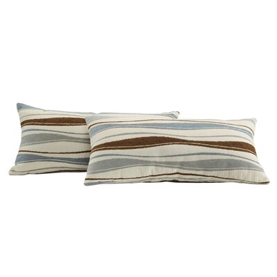 Wilmer Vertical Wavey Stripe Kidney Lumbar Pillow