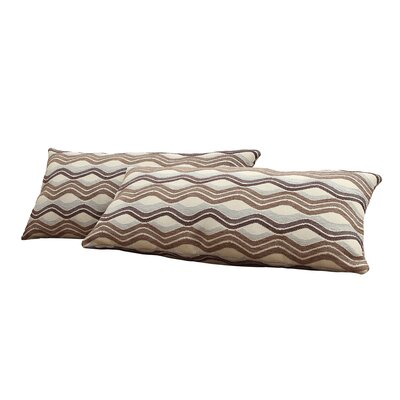 Wilmer Wavy Stripe Kidney Lumbar Pillow