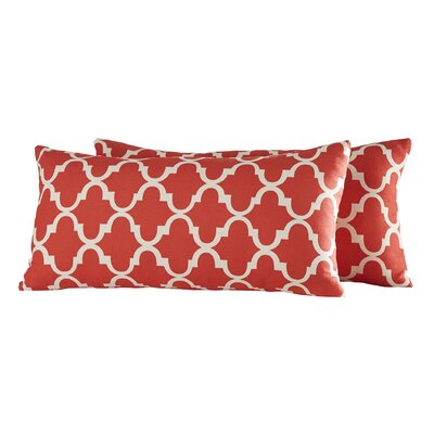 Wilmer Kidney Linen Lumbar Pillow Color: Samba Red