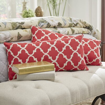 Wilmer Kidney Fabric Lumbar Pillow Color: Samba Red
