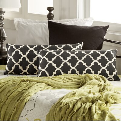 Wilmer Kidney Fabric Lumbar Pillow Color: Vulcan Black