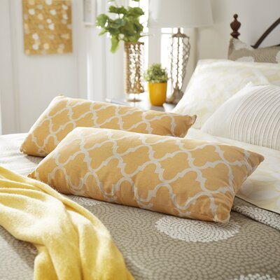 Wilmer Kidney Fabric Lumbar Pillow Color: Banana Yellow